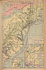 Map of the Campaigns of the American Revolution, 1775  - 1781