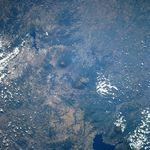 Vista en perspectiva con Imagen radar del Monte Fuji y Tokyo, Japón