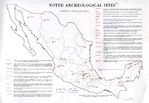 Noted Archeological Sites Map, Mexico