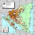 Mapa de Elevación de Nicaragua