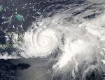Ciclón tropical Jeanne (11L) encima de República Dominicana
