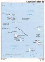 Mapa Político de las Islas de Barlovento