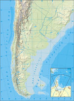 Argentina Republic Map, South America