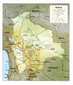 Mapa Relieve Sombreado de Bolivia