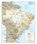 Mapa Relieve Sombreado de Brasil