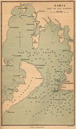 Bahia (Bay of all Saints) Map, Brazil 1882