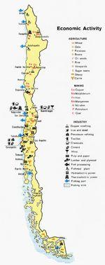 Mapa de Actividad Económica de Chile