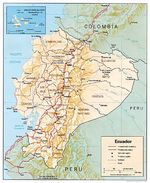 Mapa Relieve Sombreado de Ecuador