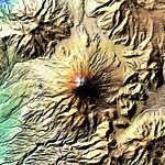 Satellite Image, Photo of Cotopaxi Volcano, Ecuador