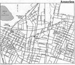 Mapa de la Ciudad de Asunción, Paraguay