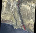 Imagen, Foto Satelite del Rio Grande, Bolivia