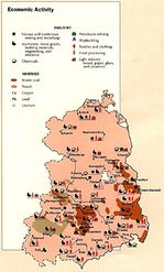 Former East Germany Economic Activity Map