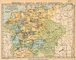 Mapa de Alemania al Comienzo de la Guerra de Treinta Años 1618