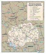 Mapa Politico de Macedonia