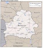 Mapa de las Principales Instalaciones de la Industria de Defensa de Bielorrusia