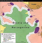 Map of Muslim Resettlement in the U.S. Sector, Bosnia and Herzegovina 1997