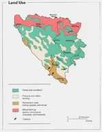 Bosnia and Herzegovina Land Utilization Map
