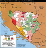Mayorías Étnicas de Bosnia y Herzegovina 1991