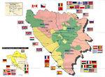 Mapa de Despliegue de Tropas del SFOR, Bosnia y Herzegovina 1997