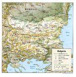 Mapa de Relieve Sombreado de Bulgaria