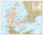Mapa Politico de Dinamarca