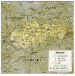 Mapa Físico de Eslovaquia
