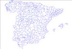 Mapa Mudo de España mostrando sus comarcas