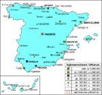 Mapa Político Pequeña Escala de Islas Turcos y Caicos