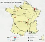 France Resources and Processing Map