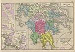 Hellas and Peloponnesus Map