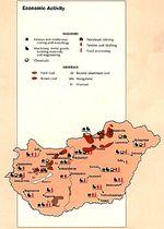 Mapa de la Actividad Económica de Hungría