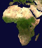 Mapa Satelital de Africa