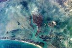 Perspective View with Landsat Overlaid Owahanga, New Zealand
