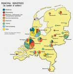 Netherlands Principal Industries Map