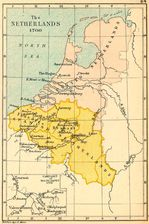 Map of the Netherlands in 1700