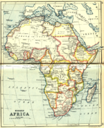 Mapa de África 1913