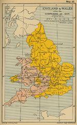 Mapa de Inglaterra y El País de Gales Despues de las Campañas de 1644