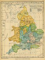 Mapa del Impuesto de los Buques en Inglaterra y El País de Gales 1636