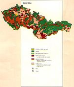 Former Czechoslovakia Land Use Map