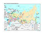 Mapa de Áreas con Problemas Ambientales en Rusia