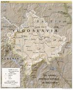 Mapa de Relieve Sombreado de Kosovo