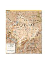 Mapa de Relieve Sombreado de Kosovo