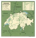 Switzerland Administrative Divisions Map