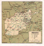 Afghanistan Political Map