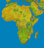 Topography of Africa 2000