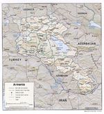 Mapa de Relieve Sombreado de Armenia