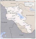 Mapa de las Principales Instalaciones de la Industria de Defensa de Armenia