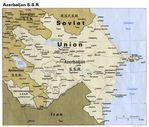 Former Azerbaijan Soviet Socialist Republic Political Map