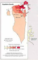 Mapa de la Densidad Poblacional de Bahréin
