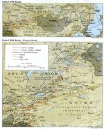 China-Former USSR Border, Western Sector Map